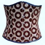 Majestic Underbust Corset with Jute Fabric