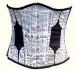 Exclusive Newspaper Print Underbust Corset