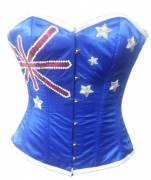 Australian Flag Designed OverBust Corset